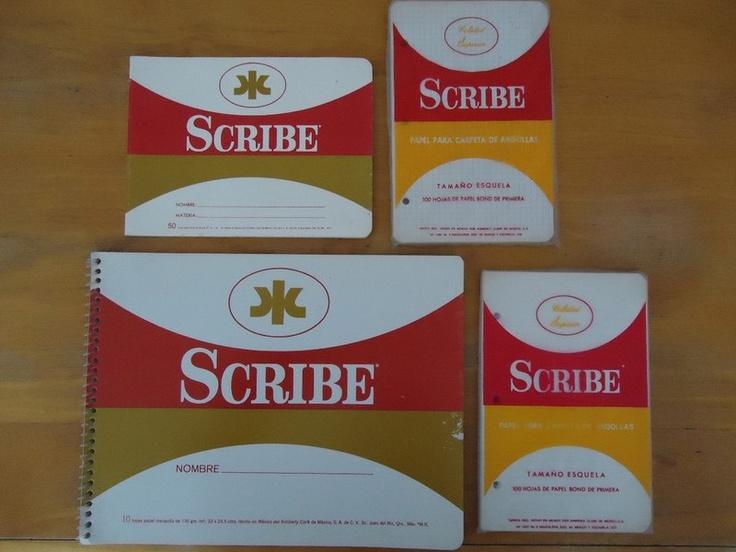 Cuadernos Scribe. estos eran los que usaba en la primaria.
