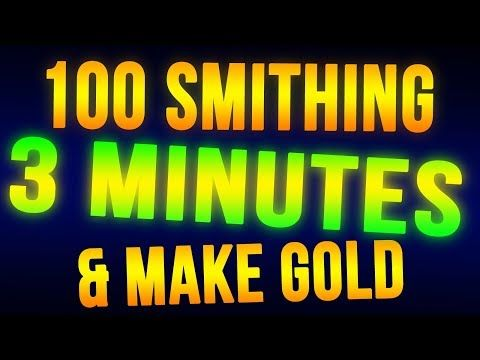Skyrim Level 100 Smithing in 3 Minutes + Make Money FAST! - YouTube