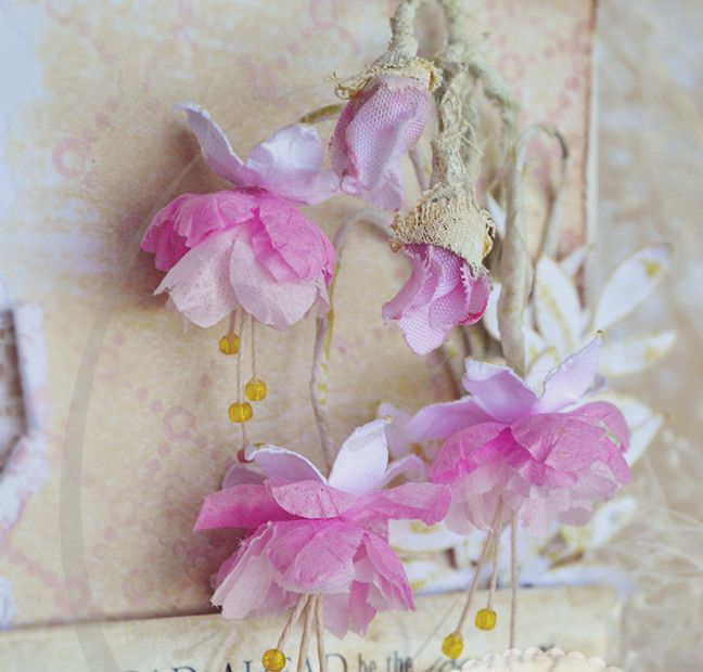 The 292 best how to make paper flowers images on pinterest paper fuchsia flower tutorial mightylinksfo