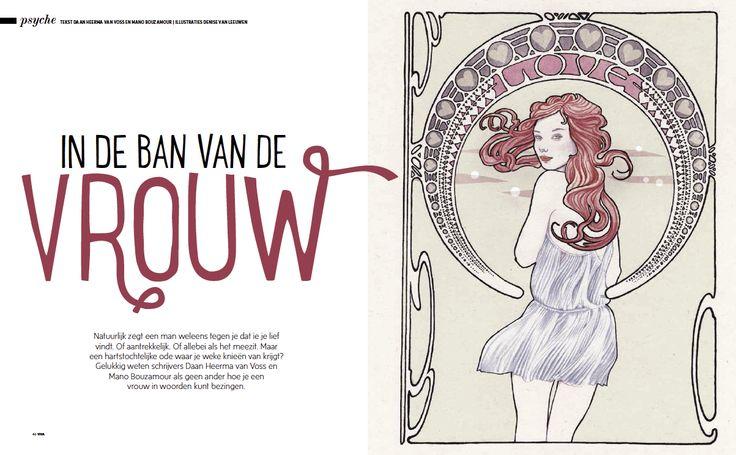 VIVA - Ode aan de vrouw, illustratie Denise van Leeuwen