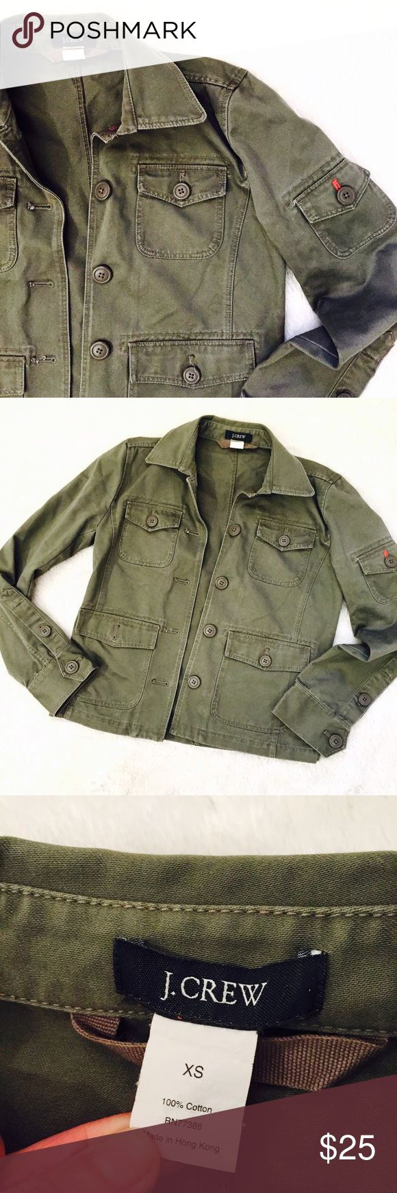 🆕 J. Crew Utility Jacket XS Women's military utility jacket by J. Crew. In an olive green color called Light Tent. Size XS in gently pre owned condition. Ready to wear. Perfect layering coat. Patch pockets. J. Crew Jackets & Coats Utility Jackets