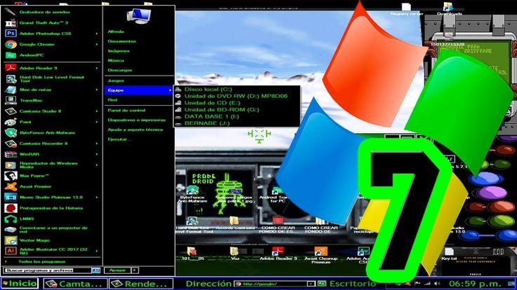 Como organizar Menú inicio y Barra de tareas en windows 7