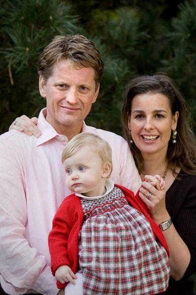 Prins Pieter Christiaan en prinses Anita met dochter Emma