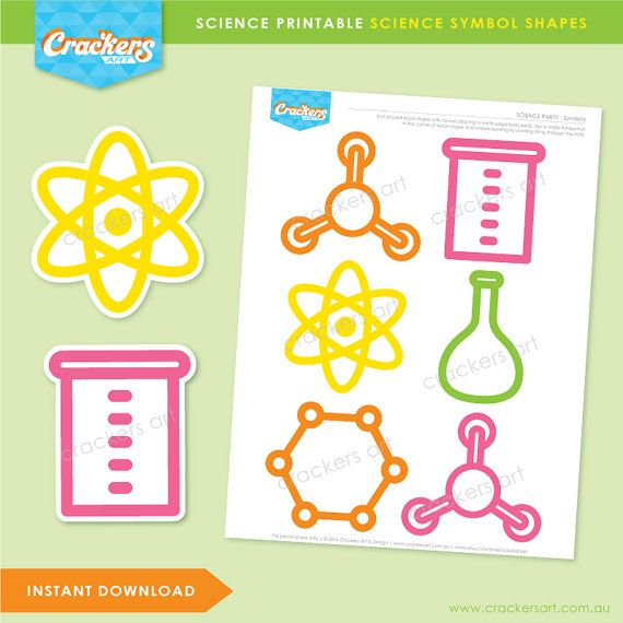 Instant Download SCIENCE Party Science Symbol by crackersart