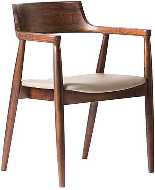 Dygzh Kitchen Chair Heavy Wood Kitchen Side Curved Armchair Chair