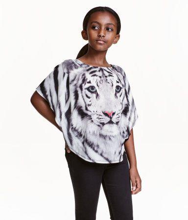Vid topp | Grå/Tiger | Barn | H&M NO