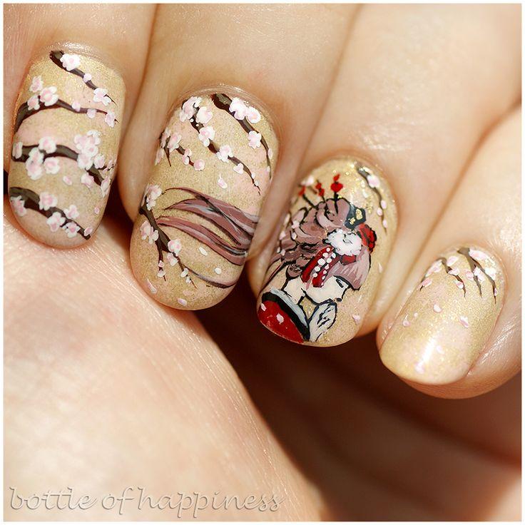 Misa ~Wanderlust~ 285 Epiphany + AllePaznokcie ~One Colour Exclusive~ 01 + China Glaze ~City Flourish~ Spring In My Step + acrylic paint #nails #nailart