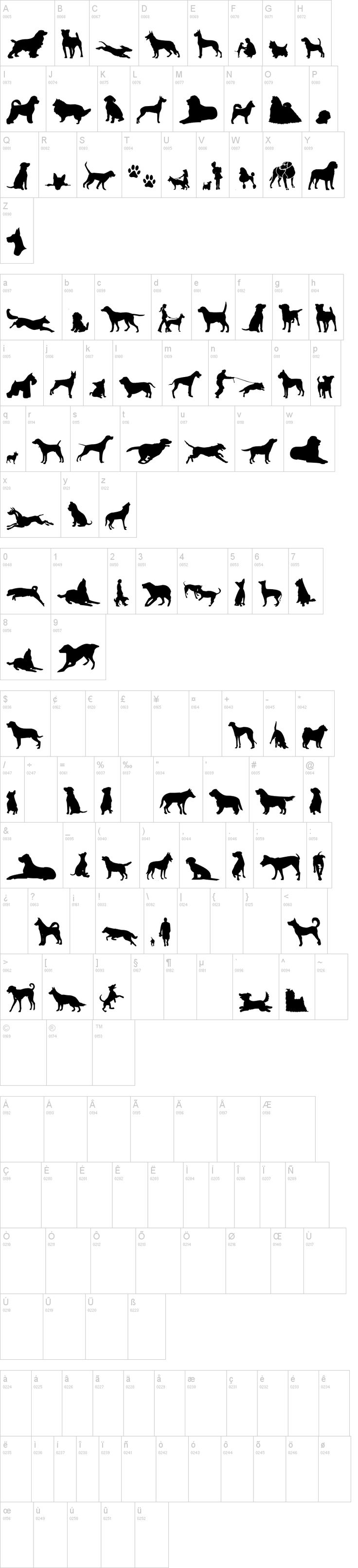 Free font ☺: Can Dog TFB