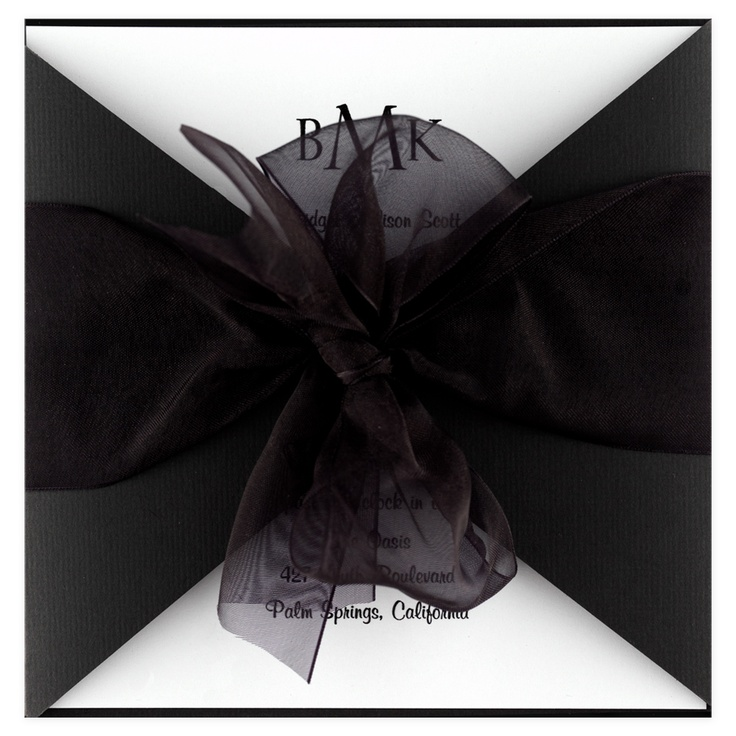 100 best Black and White Wedding Invitations images on Pinterest ...