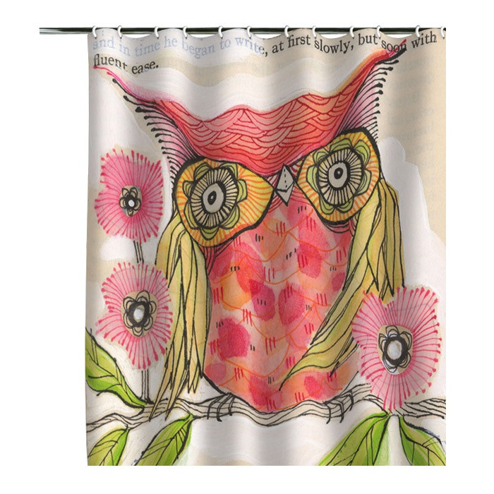Owl Shower Curtain Home Bathroom Pinterest Owl