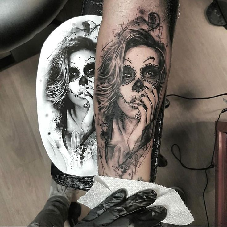 Sugar skull girl tattoo by A.b.s™