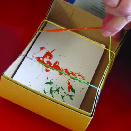 Rubberband Art- make cards for children to send and work on those fine motor skills