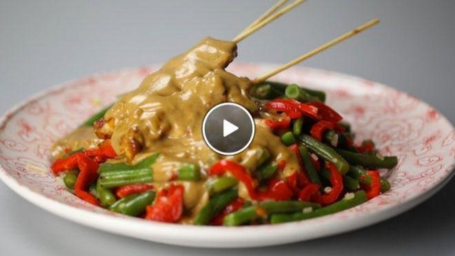 Kipsaté met pindasaus en sperziebonen - De Makkelijke Maaltijd   24Kitchen