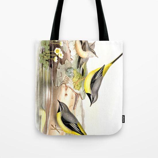 Grey wagtail Tote Bag