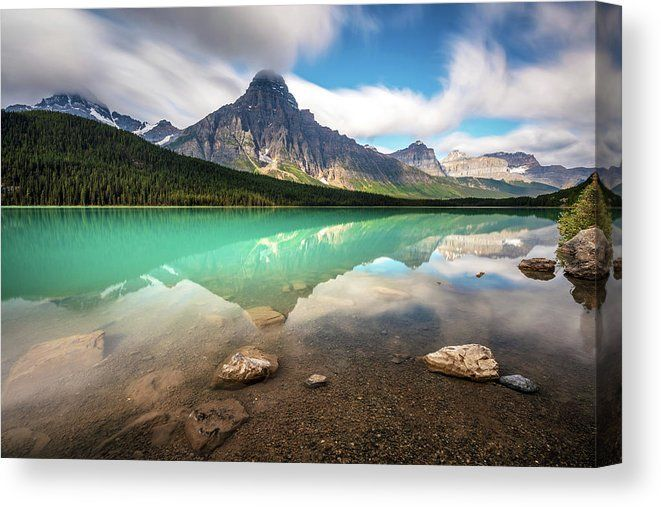 Mountain Landscape And Reflection Canvas Print Canvas Art By Pierre Leclerc Photography In 2020 Scenic Drive Scenic Mountain Landscape