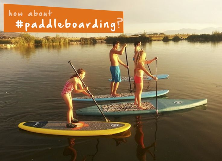 How about getting your family exercise in with #paddleboarding? #familyfun…