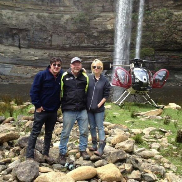 Marcus and Carey visiting the Jurassic Falls