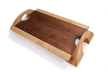 Solid wood serving tray or elegant cutting board created in the Chestnut Grove studio | chestnutgrove.ca #productdesign #kitchen #accessories