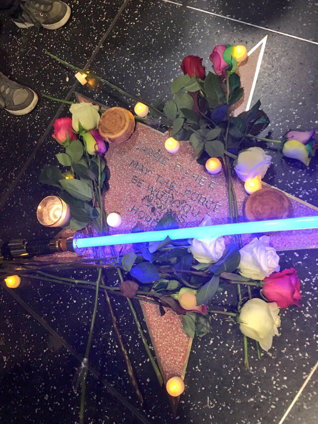 L'étoile de Carrie Fisher (Hollywood Walk of Fame)
