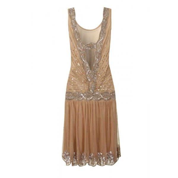 Frock and Frill Zelda Flapper dress - Sequined 1920s Dress (4,880 PHP) ❤ liked on Polyvore featuring dresses, white dress, white cocktail party dresses, sequin dress, gatsby dress and roaring 20s dress