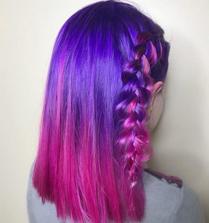 40+ Purple to pink hair ombre ideas