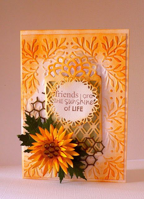 Couture Creations: Friendship Card by Adrian Bolzon