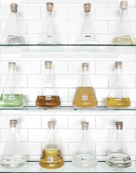 What a great solution for a bar. No more ugly mismatched liquor bottles