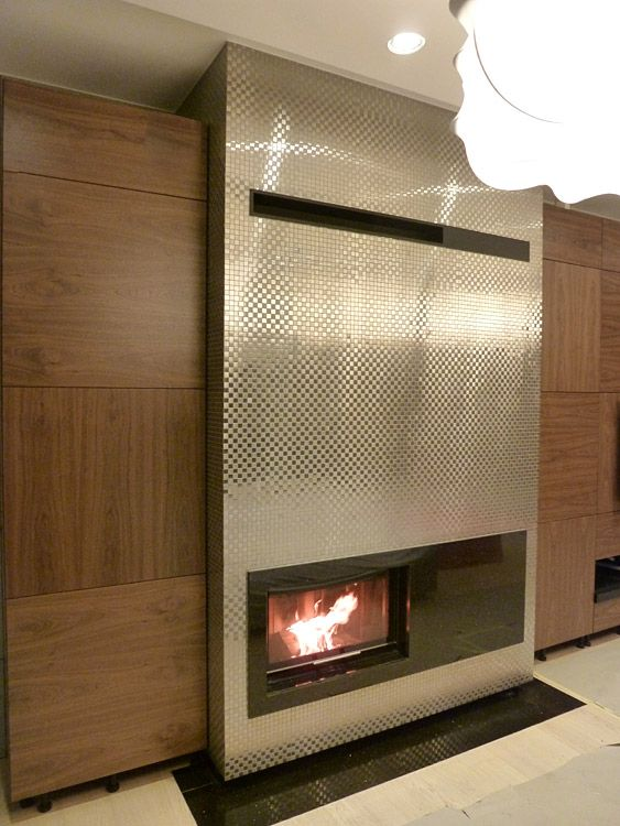 """Modern fireplace in the implementation of the company """"Fireplace"""" from Katowice. #modernfireplace #komineknowoczesny"""