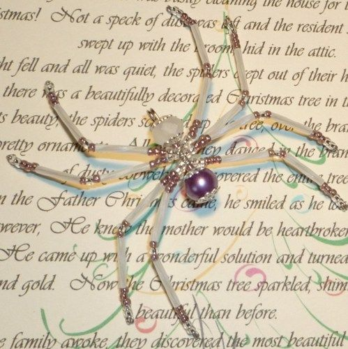 how to make a christmas spider