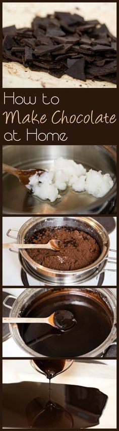 How to Make Chocolate at Home - Coconut Oil Dark Chocolate Recipe