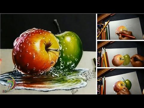 Real-time painting: Hyperrealistic Art - Millani - YouTube