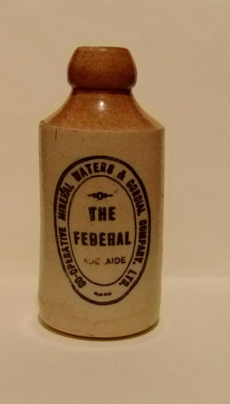 The Federal Co-Operative Mineral Waters and Cordial Co. Ltd Adelaide Bendigo Pottery