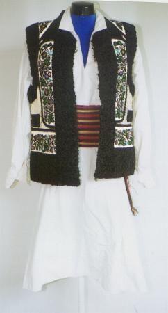 Men's costume from north Moldavia