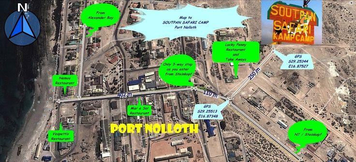 Map to Soutpan Safari Camp Port Nolloth