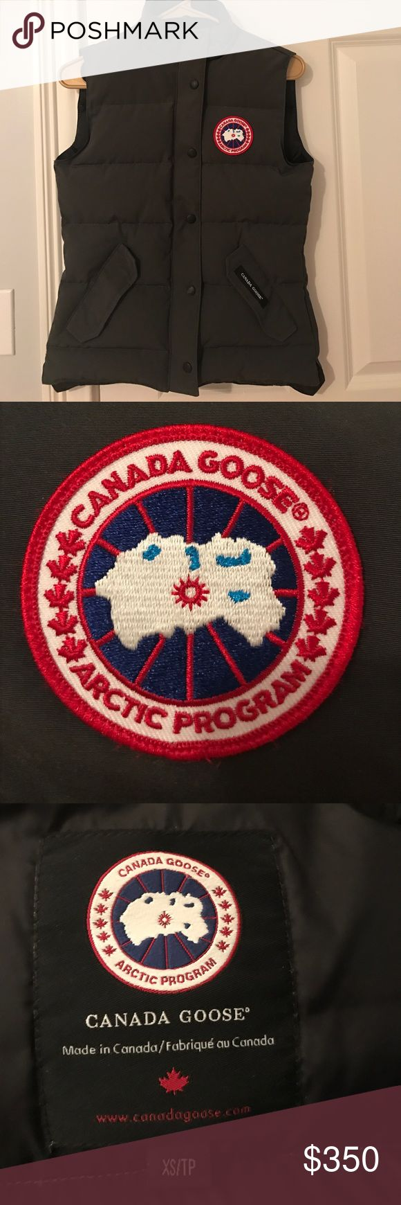 Canada Goose Vest Canada Goose vest in charcoal, size xs. Only worn two or three times Canada Goose Jackets & Coats Vests