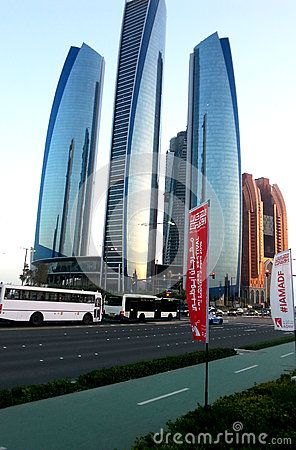 The towers are located opposite the Emirates Palace hotel and feature offices, apartments and a hotel. The estimated cost for the construction are 2.5 bn Dirhams. Towers 2 and 5 topped out in November 2010.    A year later, in November 2011, the Jumeirah at Etihad Towers Hotel which belongs to Jumeirah Group was opened in Tower 1. Tori No Su Japanese restaurant opened within the hotel in 2012. The adjacent Tower 2 is as of December 2012 the tallest building on Abu Dhabi island and the second…