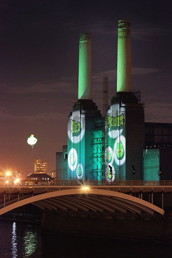 Rovio Entertainment flies Bad Piggies over Battersea Power Station to promote Angry Birds sequel