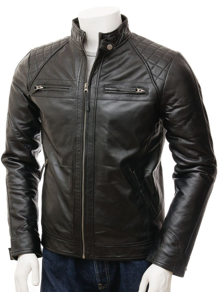 93 best Men's Leather Biker Jackets images on Pinterest | Leather ...