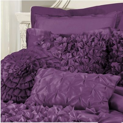 Frilly Ruffles Purple Bedding