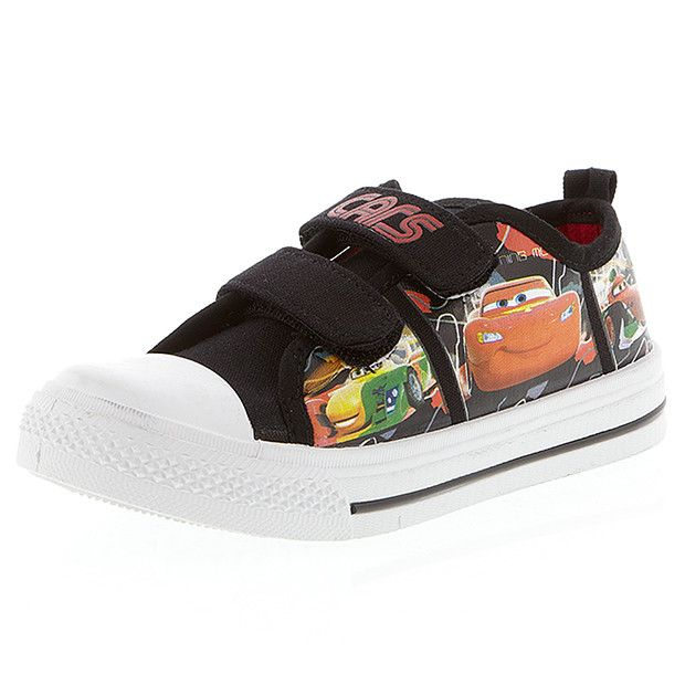 Perfect for the Cars fan, these canvas shoes feature twin, self fastening straps, a padded innersole and cute character prints on the sides.