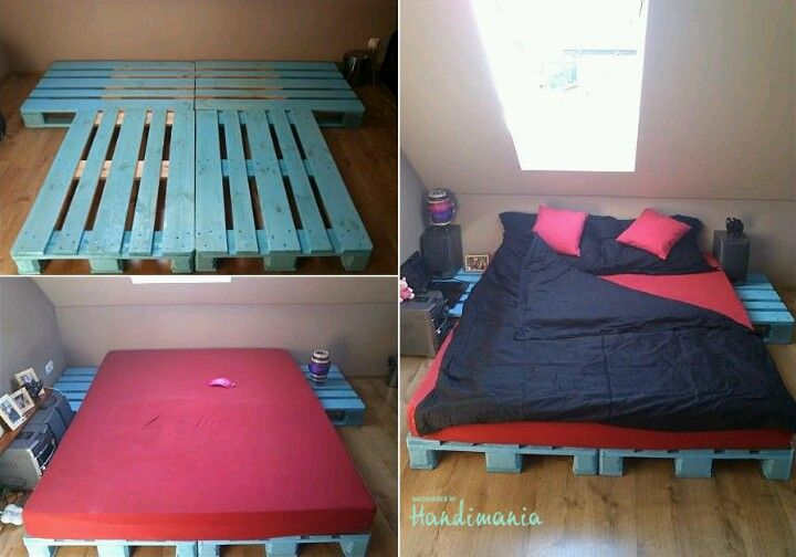 Euro pallet bed.