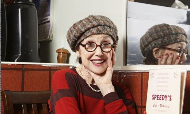 I wish I am as cool as Una Stubbs when I'm 76!   (another pinner's remark) vt