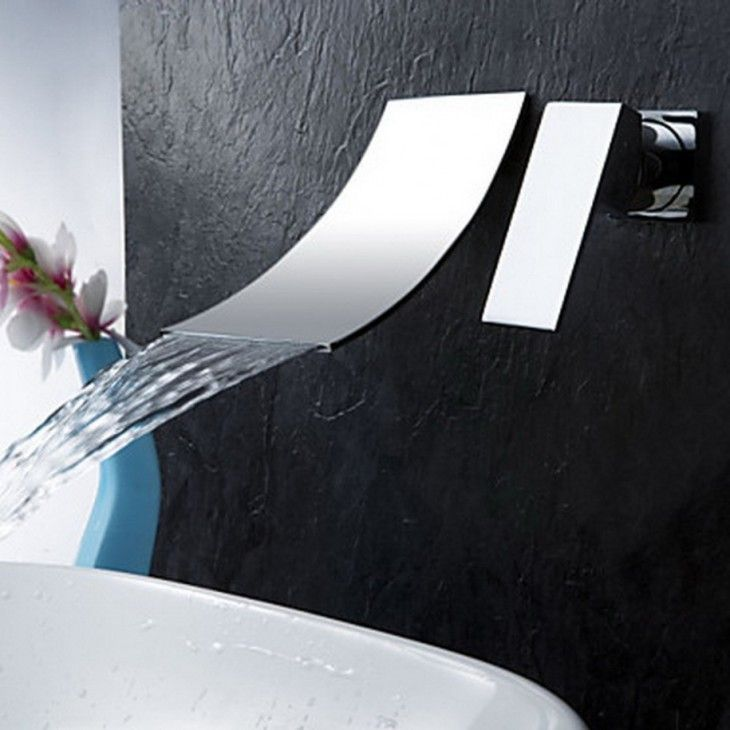 Amazing Wall Mounted Waterfall Faucets Design Ideas - pictures, photos, images