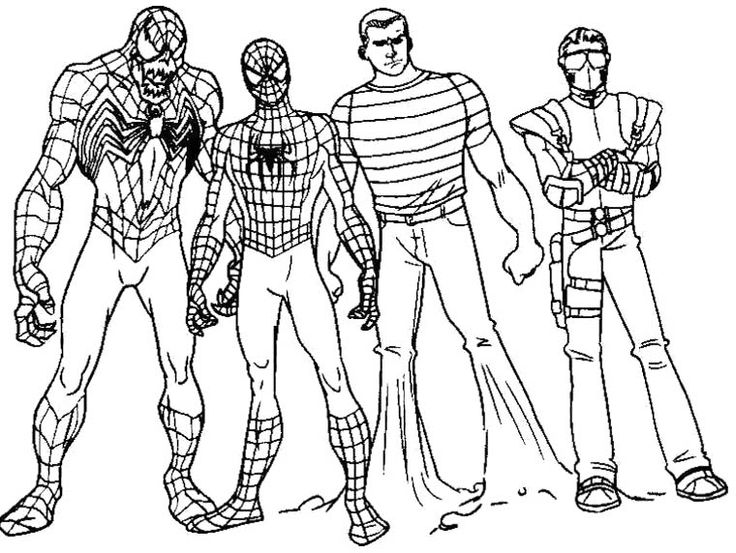 Characters Spiderman Coloring Book Kids Coloring Pages