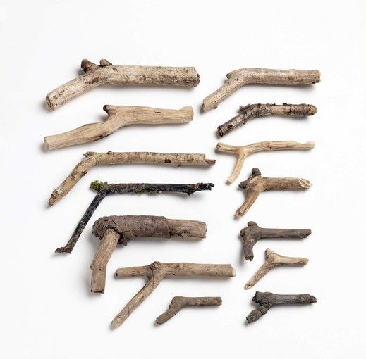 These wood objects were collected by Whiteread's young son as a substitute for the toy guns he was forbidden to own.