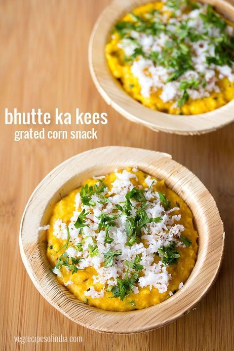 bhutte ka kees recipe with step by step photos - bhutte ka kees is a popular as well as delicious street food snack from indore.