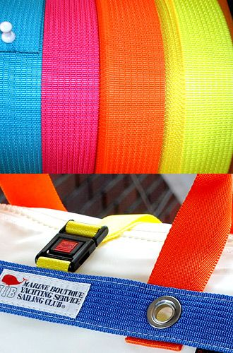 【Material】  ●Tape●  張力や耐候性に優れた丈夫なナイロン素材のテープを採用しています。