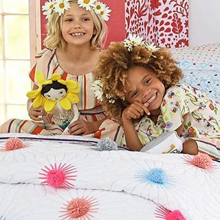 Loving this pom pom quilt from @potterybarnkidsaus . Today on We Are Scout a sneaky peek at the new Margherita Missoni for Pottery Barn Kids collection - in stores and online this Friday. Photo courtesy of Pottery Barn Kids Australia. #wearescout