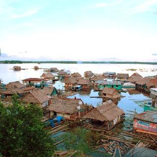 Floating amazon village, Iquitos Peru