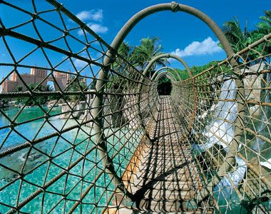 A rope bridge at the Atlantis Resort, Paradise Island, Bahamas.....we didn't make it here during the cruise. Looking forward to this in May!